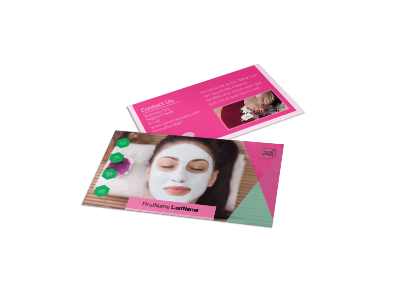 Salon & Day Spa Business Card Template Preview 1