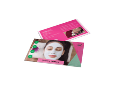 Health & Beauty Spa Business Card Template preview