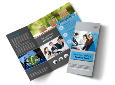 Investment Bank Tri Fold Brochure Template preview