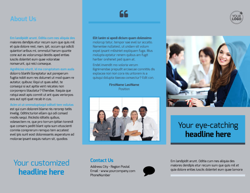 Business Banking Brochure Template Preview 2