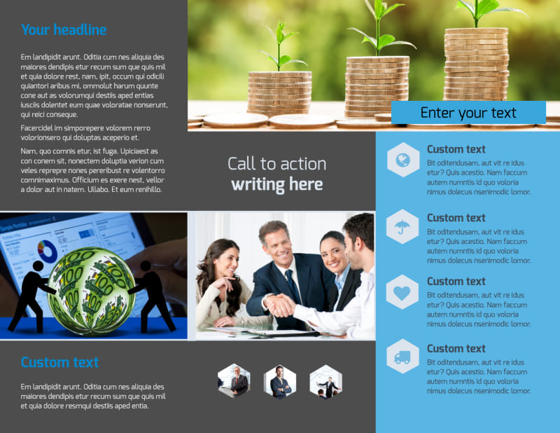 Business Banking Brochure Template Preview 3