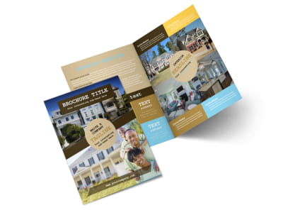 Local Real Estate Agent Bi-Fold Brochure Template 2