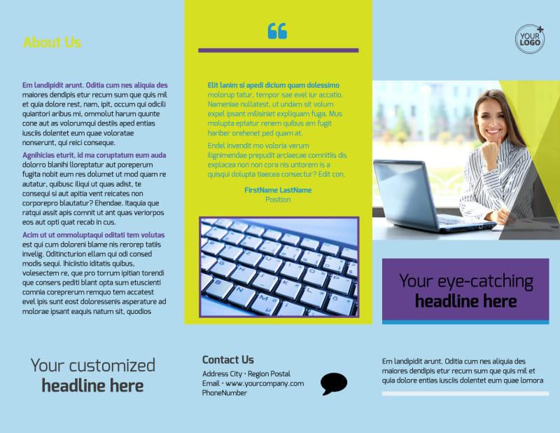 Computer Repair Brochure Template Preview 2