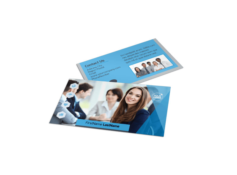 Investment Bank Business Card Template