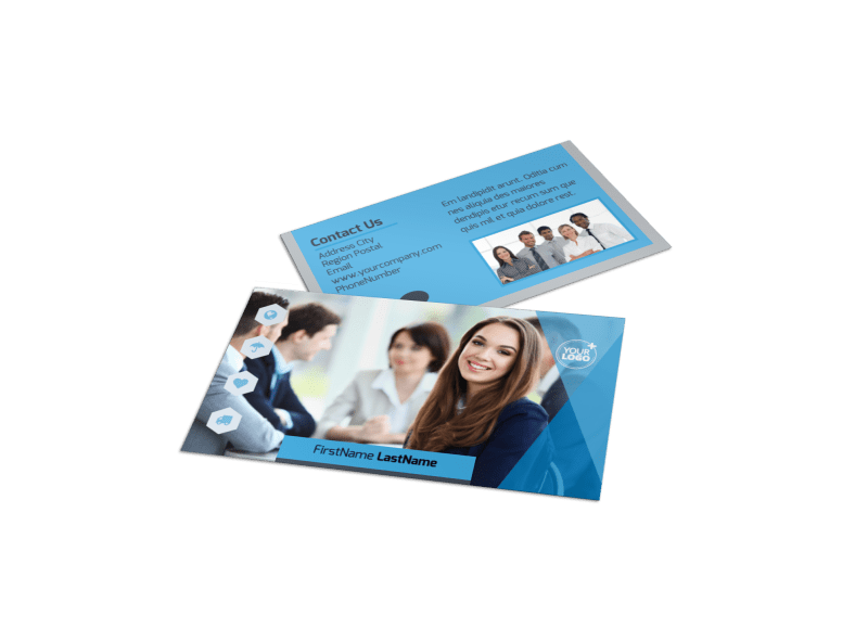 Business Banking Business Card Template Preview 1