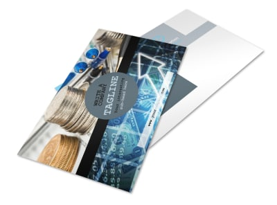 Knowledgeable Financial Consultant Postcard Template 2 preview