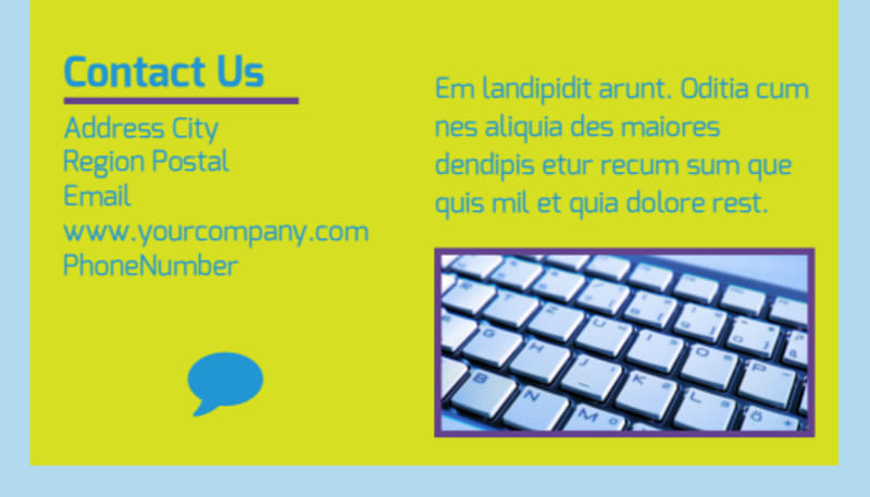 Computer Repair Business Card Template Preview 3