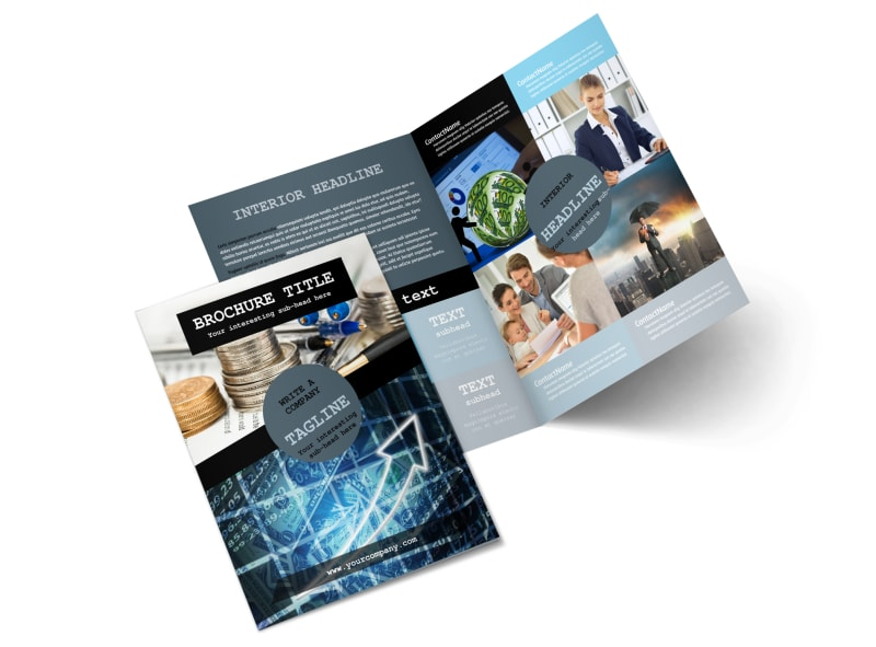 Knowledgeable Financial Consultant Bi-Fold Brochure Template 2