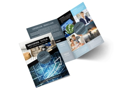 Knowledgeable Financial Consultant Bi-Fold Brochure Template 2 preview