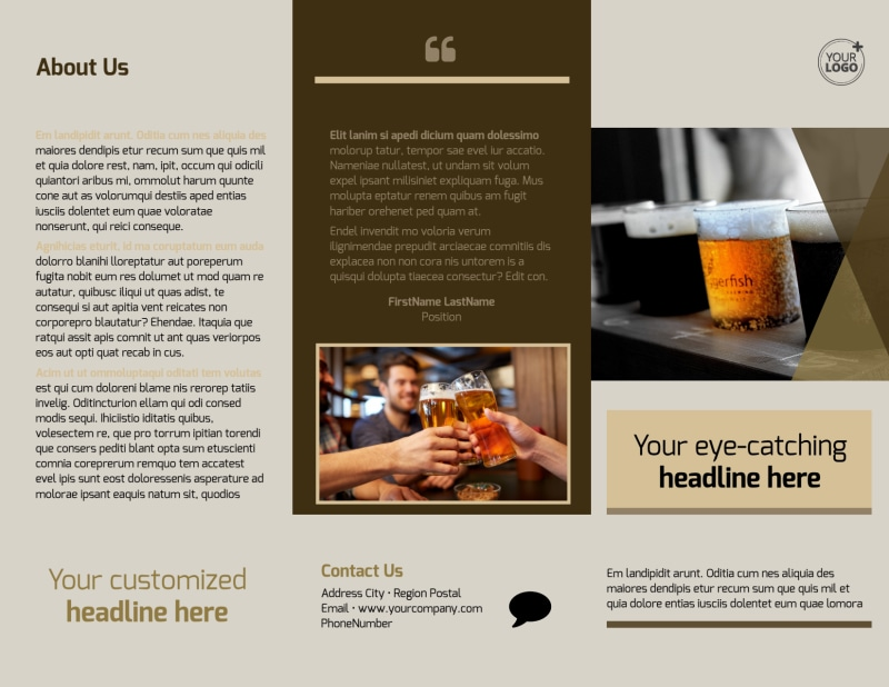 Local Brewery Brochure Template Preview 2