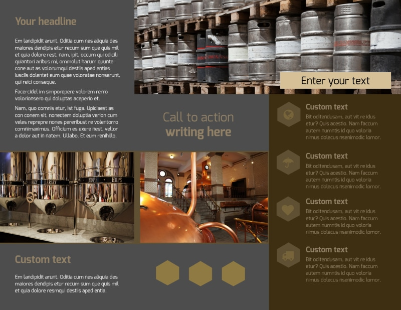 Local Brewery Brochure Template Preview 3
