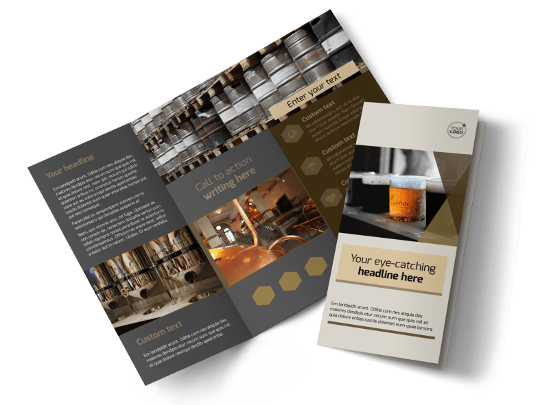 Local Brewery Brochure Template Preview 1