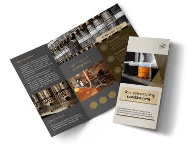 Local Brewery Tri-Fold Brochure Template