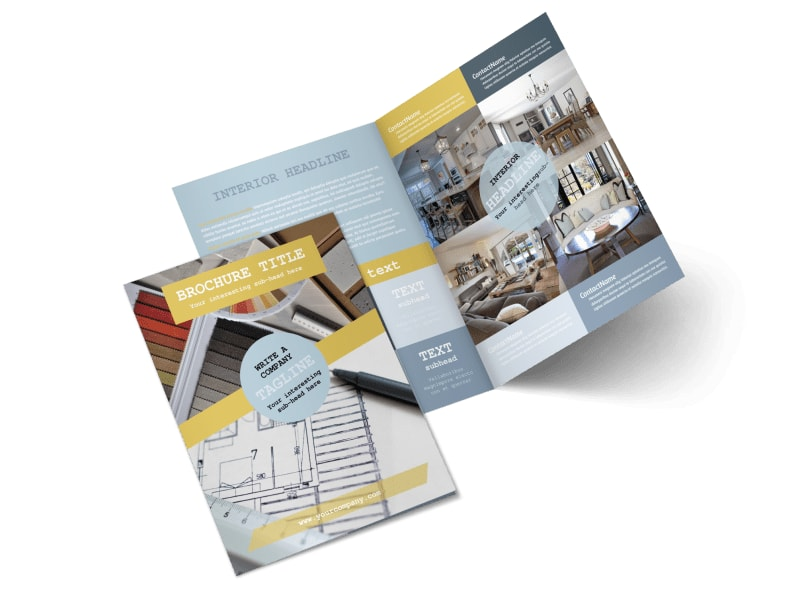 Interior Designer Bi-Fold Brochure Template 2