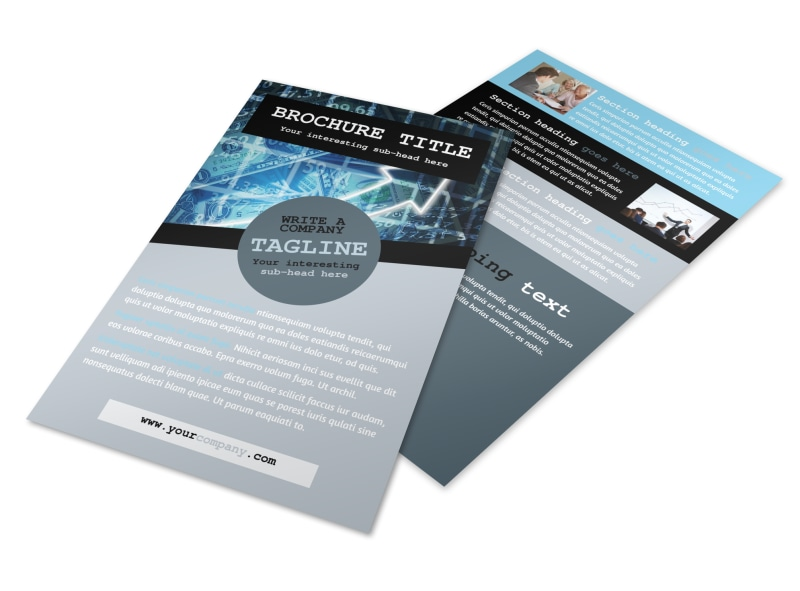 Knowledgeable Financial Consultant Flyer Template 3