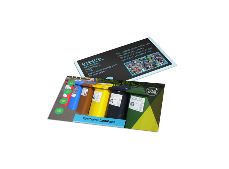 Waste Disposal Business Card Template Preview 4