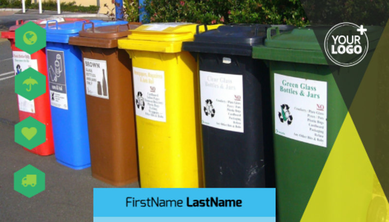 Waste Disposal Business Card Template Preview 2