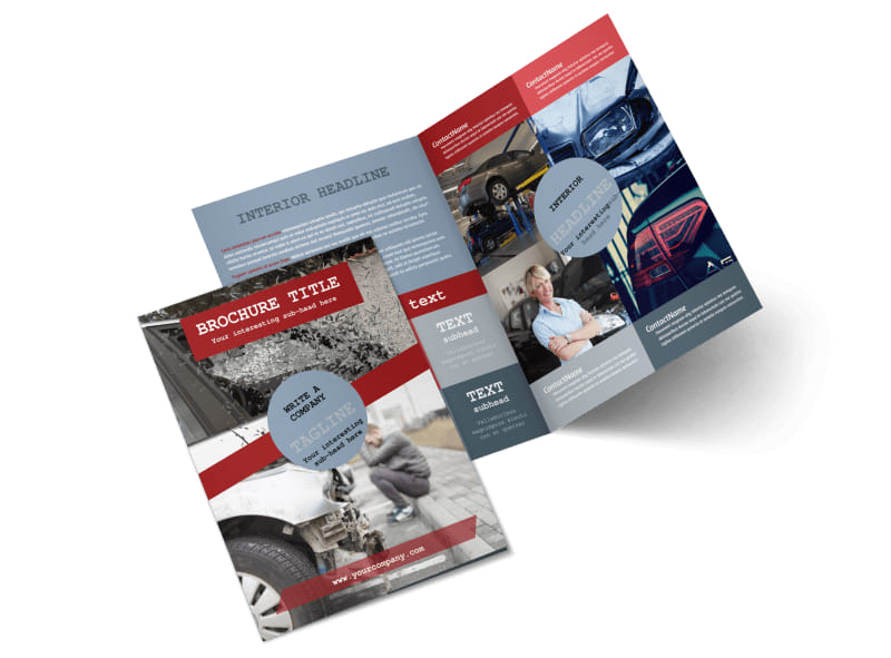 Collision Repair Bi-Fold Brochure Template 2