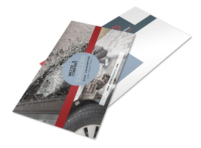 Collision Repair Postcard Template 2