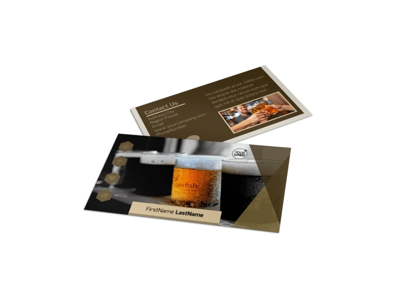 Local Brewery Business Card Template Preview 4