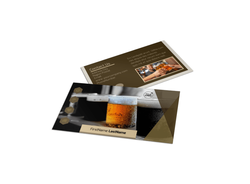 Local Brewery Business Card Template Preview 1