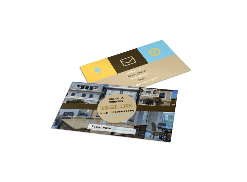 Local Real Estate Agent Business Card Template Preview 1