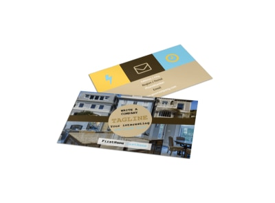 Local Real Estate Agent Business Card Template preview