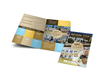 Local Real Estate Agent Bi-Fold Brochure Template