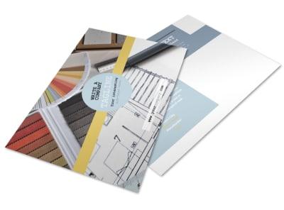 Interior Designer Postcard Template preview