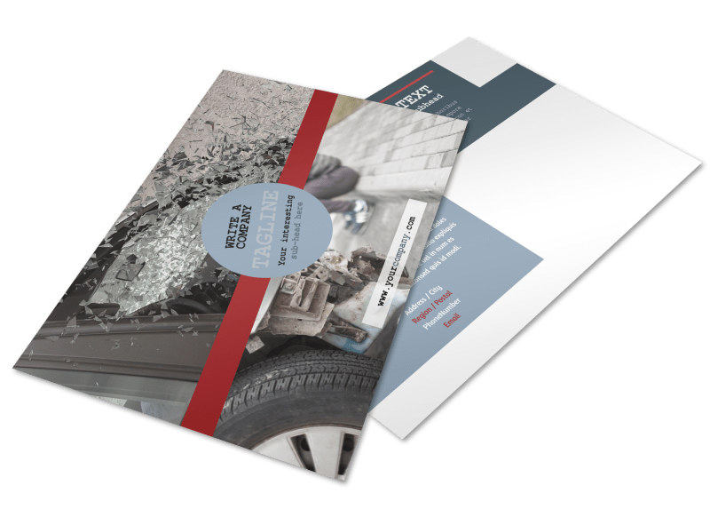 Collision Repair Postcard Template