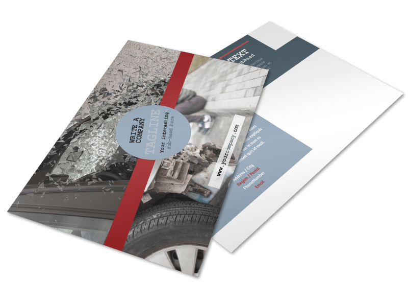 Collision Repair Postcard Template Preview 1