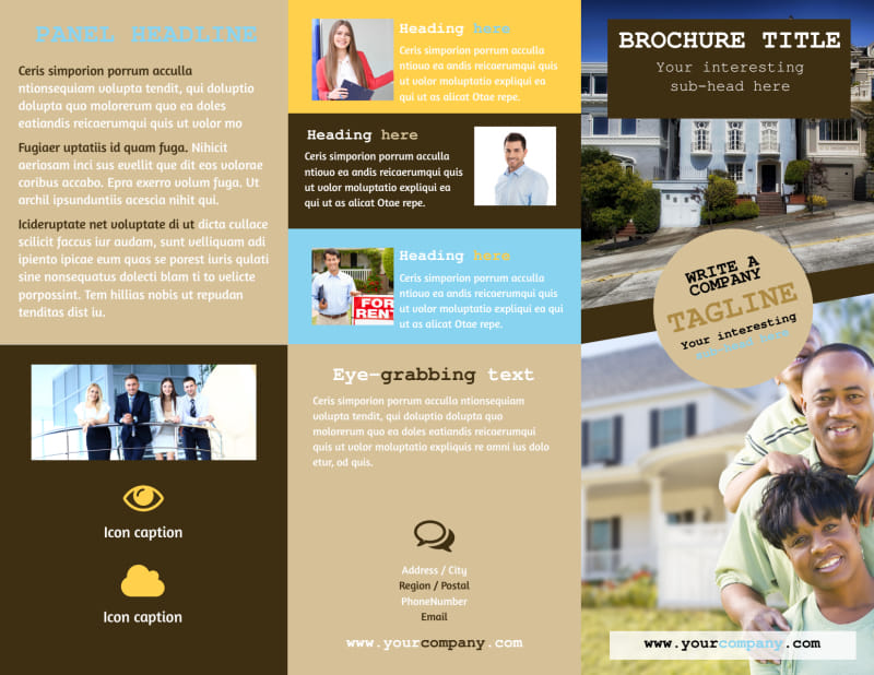 Local Real Estate Agent Brochure Template Preview 2