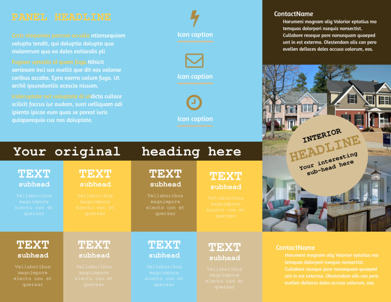 Local Real Estate Agent Brochure Template Preview 3