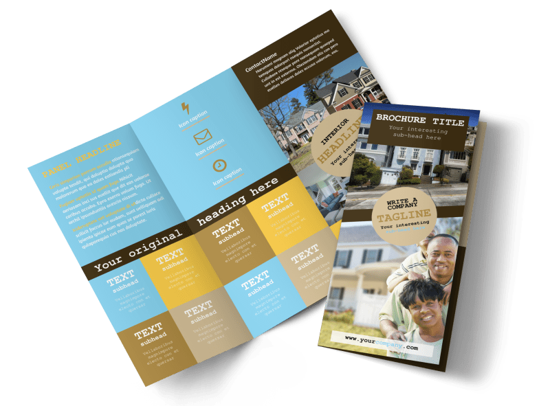 Local Real Estate Agent Brochure Template Preview 1