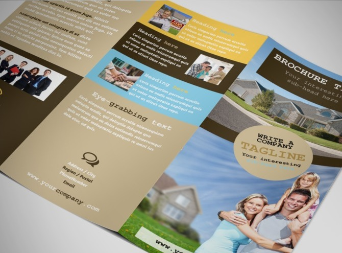 estate agent brochure template - local real estate agent tri fold brochure template
