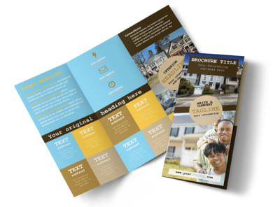 Local Real Estate Agent Tri-Fold Brochure Template