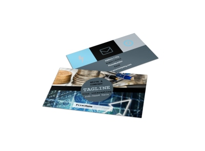 Knowledgeable Financial Consultant Business Card Template preview