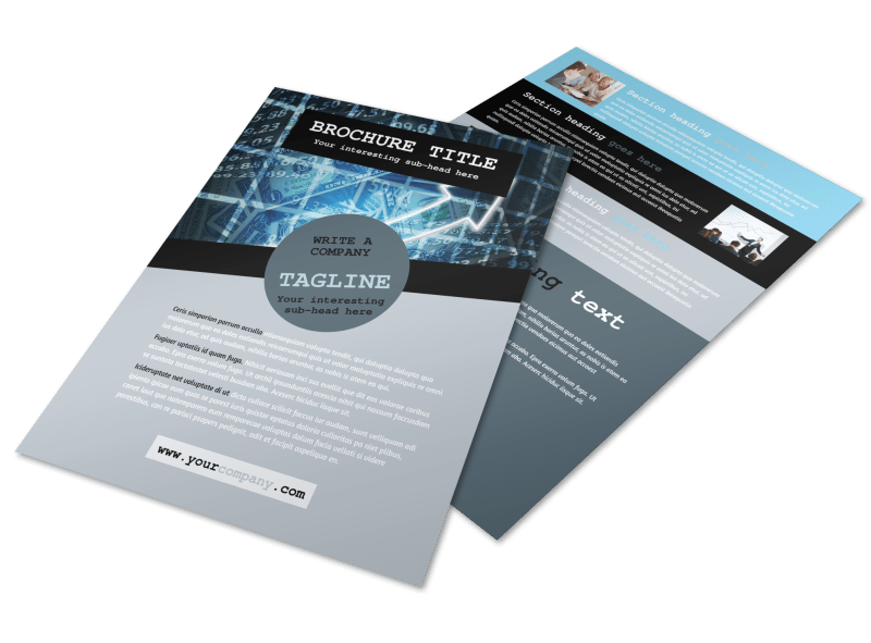 Knowledgeable Financial Consultant Flyer Template Preview 1