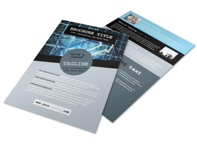 Knowledgeable Financial Consultant Flyer Template