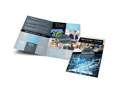 Knowledgeable Financial Consultant Bi-Fold Brochure Template preview