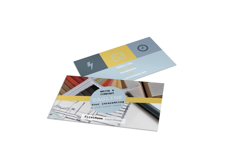 Business Cards Interior Design Interior Designer Business Card Template  Mycreativeshop