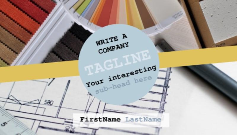 Interior Designer Business Card Template Preview 2