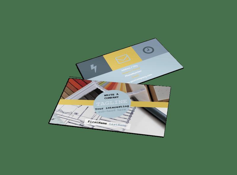 Interior Designer Business Card Template Preview 1