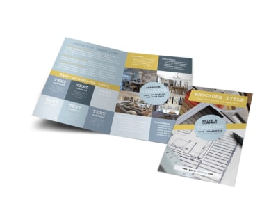 Interior Designer Bi-Fold Brochure Template preview