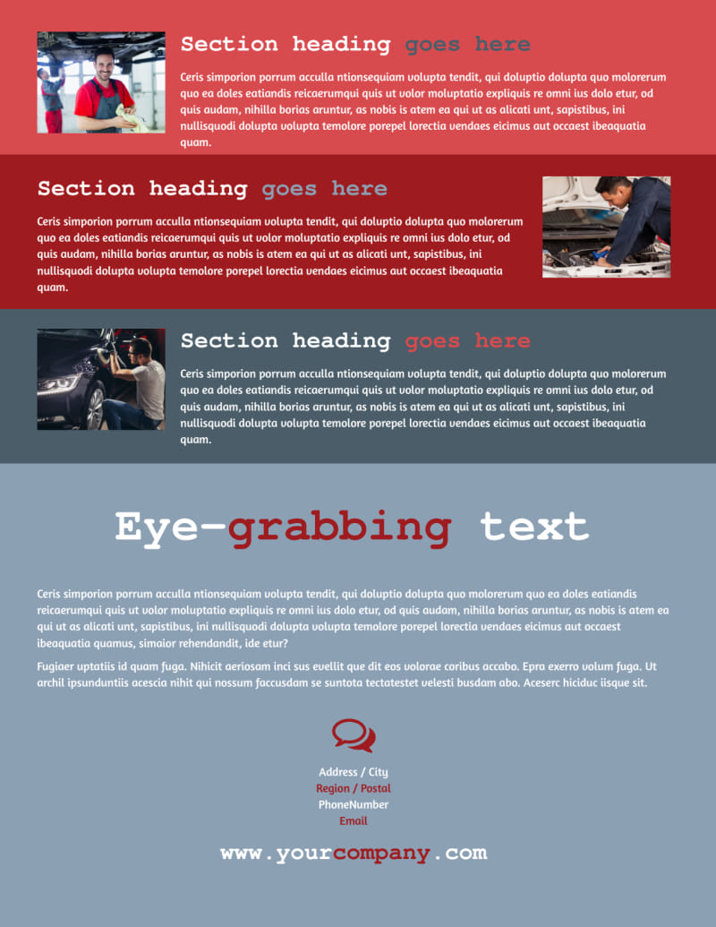 Collision Repair Flyer Template Preview 3