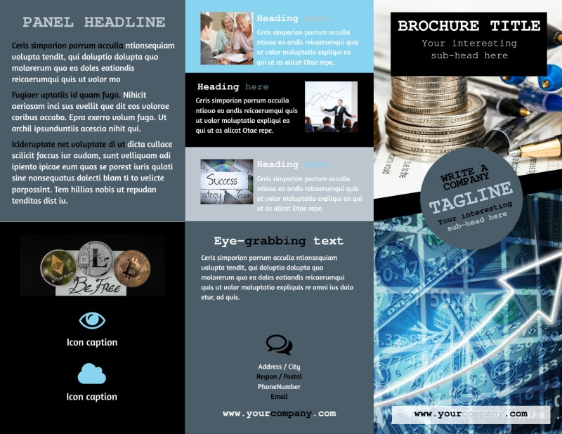 Knowledgeable Financial Consultant Brochure Template Preview 2
