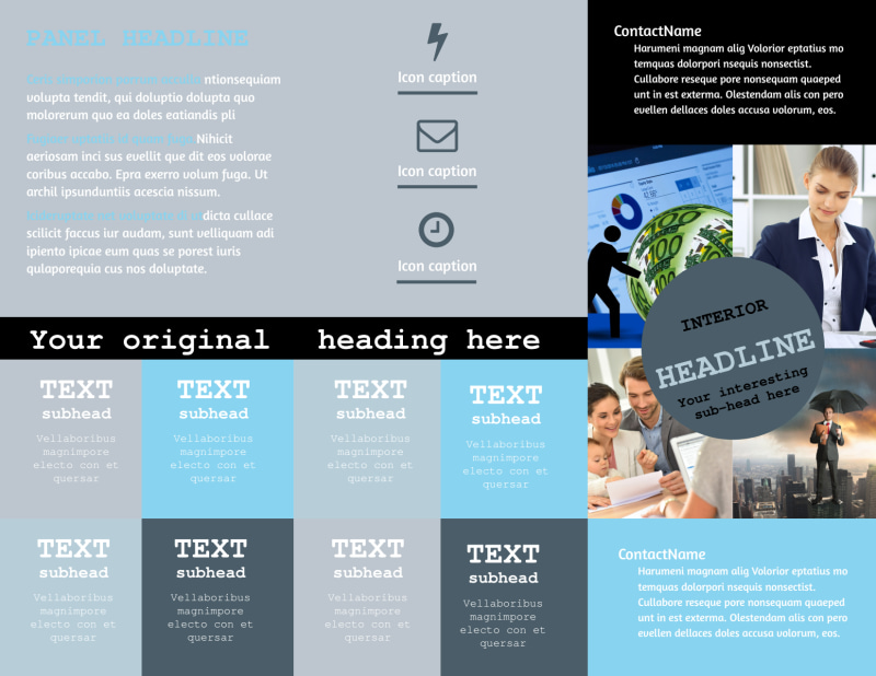 Knowledgeable Financial Consultant Brochure Template Preview 3