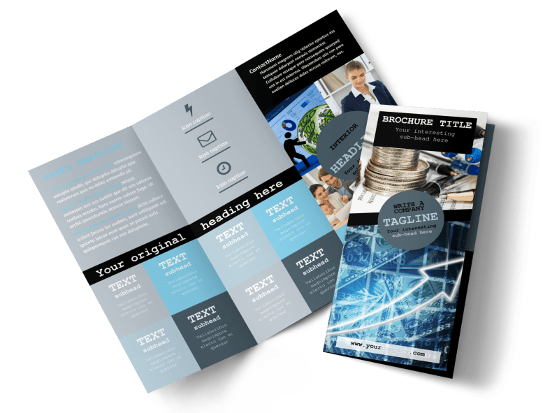 Knowledgeable Financial Consultant Brochure Template Preview 1