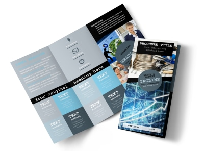 Knowledgeable Financial Consultant Tri-Fold Brochure Template preview
