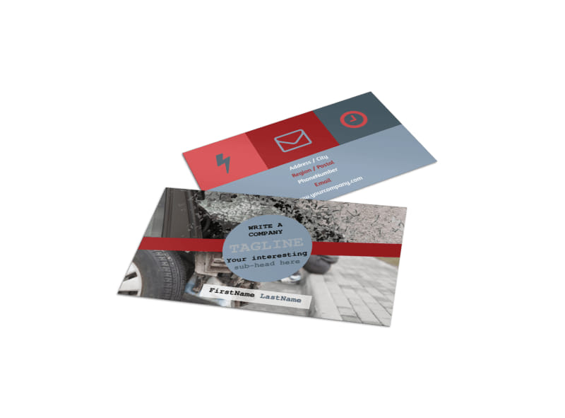 Collision Repair Business Card Template